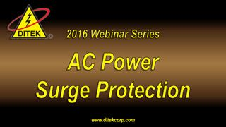 2016 AC Power Surge Protection